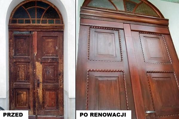 Naprawa drzwi drewnianych